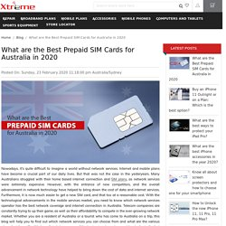 What are the Best Prepaid SIM Cards for Australia in 2020