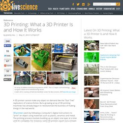 What Is 3d Printing - 3d Printers - How 3d Printing Works