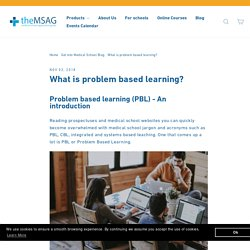 What Is Problem Based Learning – msag