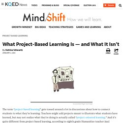 What Project-Based Learning Is — and What It Isn't