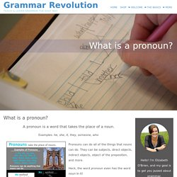 What is a pronoun?