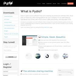 Pydio, formerly AjaXplorer