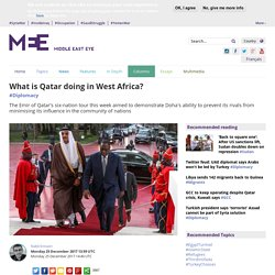 What is Qatar doing in West Africa?