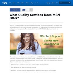 What Quality Services Does MSN Offer?