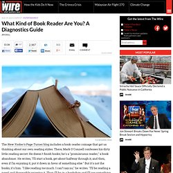 What Kind of Book Reader Are You? A Diagnostics Guide - Entertainment - The Atlantic Wire