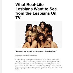 What Real-Life Lesbians Want to See from the Lesbians On TV - VICE