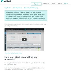 What is bank reconciliation and how do I use it? – Help Center