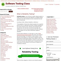 What is Reliability Testing?
