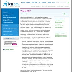 What is Response to Intervention (RTI)?