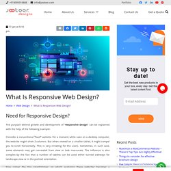 Need for Responsive Website Design