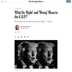 What Do 'Right' and 'Wrong' Mean to the G.O.P.?