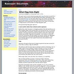 What Elgg gets right | Radagast Solutions