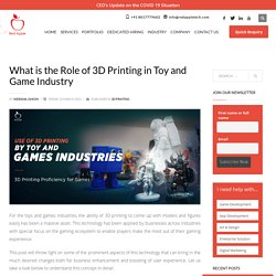 What is the Role of 3D Printing in Toy and Game Industry