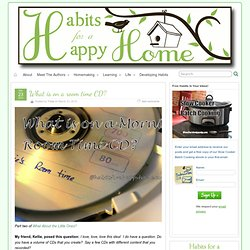 What is on a room time CD? » Habits for a Happy Home