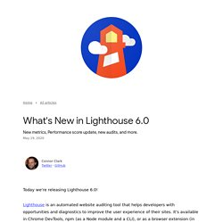 What's New in Lighthouse 6.0