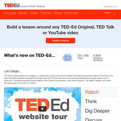 What's new on TED-Ed...