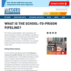What is the School-to-Prison Pipeline?
