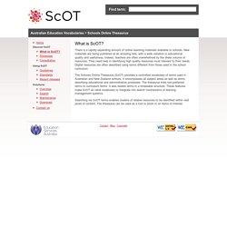 What is the Schools Online Thesaurus?