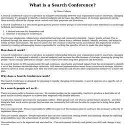 What is a Search Conference