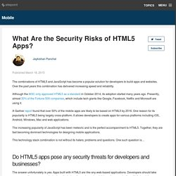 What Are the Security Risks of HTML5 Apps?