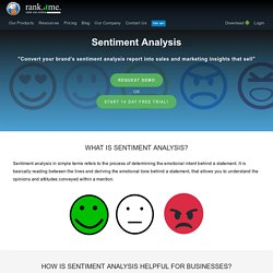 What is Sentiment analysis and what are its benefits for a brand?