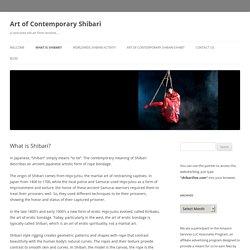 Art of Contemporary Shibari