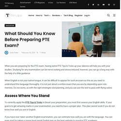 What Should You Know Before Preparing PTE Exam?