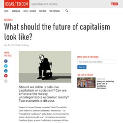 What should the future of capitalism look like?
