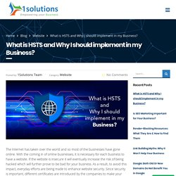 What is HSTS and Why I should implement in my Business?