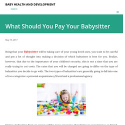 What Should You Pay Your Babysitter