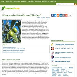 What are the Side effects of Olive leaf?