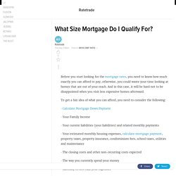 What Size Mortgage Do I Qualify For?