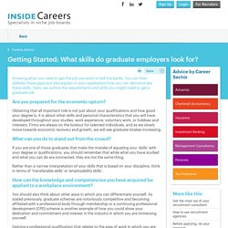 What skills do graduate employers look for?