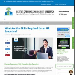 What Are the Skills Required for an HR Executive?