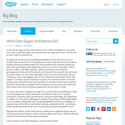 What Does Skype's Architecture Do?