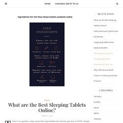 What are the Best Sleeping Tablets Online?