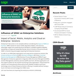 What is SMAC and what effect does it have on business ERP