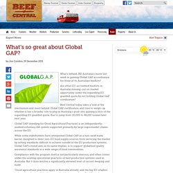 BEEF CENTRAL 19/12/11 What's so great about Global GAP?