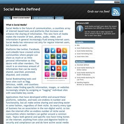 What is Social Media? - Social Media Defined