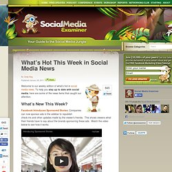 What's Hot This Week in Social Media News