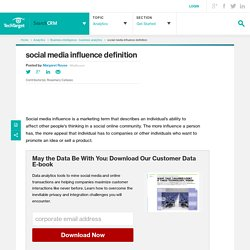 What is social media influence
