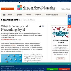 What Is Your Social Networking Style?