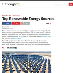 What Are Sources of Renewable Energy?