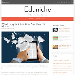 What Is Speed Reading and How to Master It?