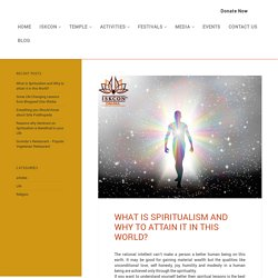 How Spiritualism Helps to Discover Yourself