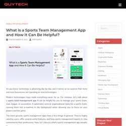 Sports Team Management App Development