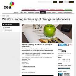What's standing in the way of change in education?