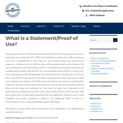 What is a Statement/Proof of Use? – My Brand Mark Blog