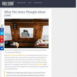 What The Stoics Thought About Love