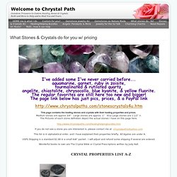 What stones do...list - Welcome to Chrystal Path